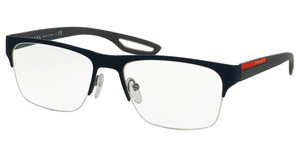 Prada Sport PS 55FV TFY1O1 TOP BLUE RUBBER ON GUNMETAL