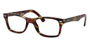 Ray-Ban RX5228 5710 SPOTTED RED/BROWN YELLOW
