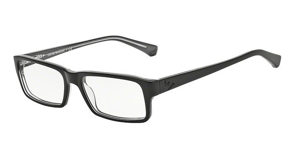 Emporio Armani EA3003 5055 BLACK ON GRAY TRNSP