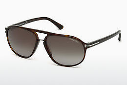 太阳镜 Tom Ford Jacob (FT0447 52B) - 棕色, Dark, Havana