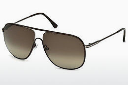 太阳镜 Tom Ford Dominic (FT0451 49K) - 棕色, Dark, Matt