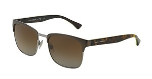 Dolce & Gabbana DG2148 1278T5 POLAR BROWN GRADIENTMATTE GUNMETAL/SHINY