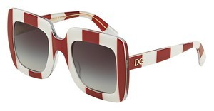 Dolce & Gabbana DG4263 30248G GREY GRADIENTSTRIPE RED/WHITE