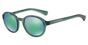Emporio Armani EA4054 537531 LIGHT BLUE MIRROR GREENTRANSPARENT GREEN