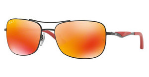 Ray-Ban RB3515 002/6S DARK BROWN MIRROR ORANGE POLARBLACK