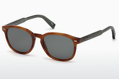 太阳镜 Ermenegildo Zegna EZ0005 53N - 哈瓦那, Yellow, Blond, Brown