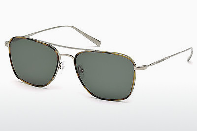太阳镜 Ermenegildo Zegna EZ0052 14N - 灰色, Shiny, Bright