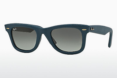 太阳镜 Ray-Ban WAYFARER LEATHER (RB2140QM 116871) - 蓝色