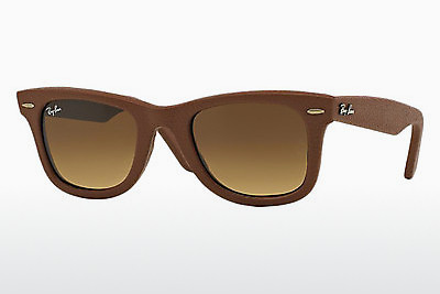 太阳镜 Ray-Ban WAYFARER LEATHER (RB2140QM 116985) - 棕色