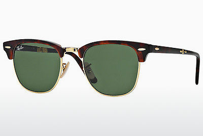 太阳镜 Ray-Ban CLUBMASTER FOLDING (RB2176 990) - 棕色, 哈瓦那