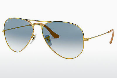 太阳镜 Ray-Ban AVIATOR LARGE METAL (RB3025 001/3F) - 金色