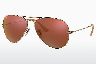 太阳镜 Ray-Ban AVIATOR LARGE METAL (RB3025 167/2K) - 棕色