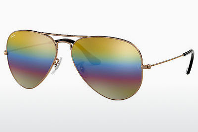 太阳镜 Ray-Ban AVIATOR LARGE METAL (RB3025 9020C4) - 灰色, 棕色