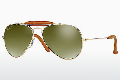 太阳镜 Ray-Ban AVIATOR CRAFT (RB3422Q 001/M9) - 金色, 棕色