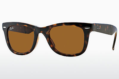 太阳镜 Ray-Ban FOLDING WAYFARER (RB4105 710) - 棕色, 哈瓦那