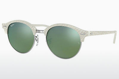 太阳镜 Ray-Ban Clubround (RB4246 988/2X) - 白色