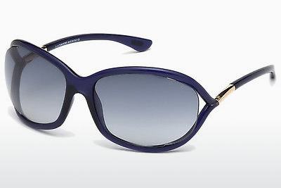 太阳镜 Tom Ford Jennifer (FT0008 90W) - 蓝色, Shiny