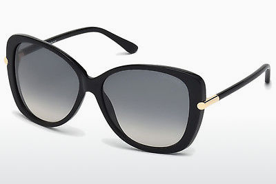 太阳镜 Tom Ford Linda (FT0324 01B) - 黑色, Shiny