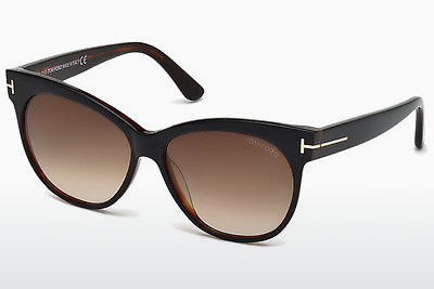 太阳镜 Tom Ford Saskia (FT0330 03B) - 黑色, Transparent