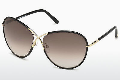 太阳镜 Tom Ford Rosie (FT0344 01B) - 黑色, Shiny