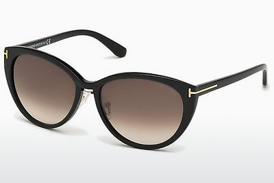 太阳镜 Tom Ford Gina (FT0345 01B) - 黑色, Shiny
