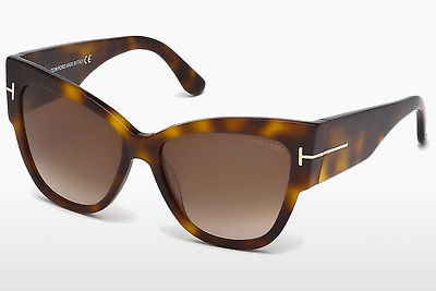 太阳镜 Tom Ford Anoushka (FT0371 53F) - 哈瓦那, Yellow, Blond, Brown