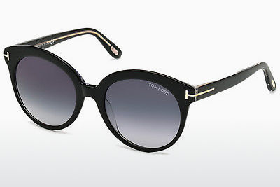 太阳镜 Tom Ford Monica (FT0429 03W) - 黑色, Transparent