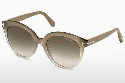 太阳镜 Tom Ford Monica (FT0429 59B) - 牛角, Beige, Brown