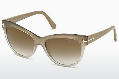 太阳镜 Tom Ford Lily (FT0430 59G) - 牛角, Beige, Brown