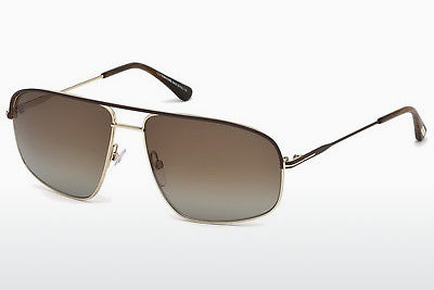 太阳镜 Tom Ford Justin Navigator (FT0467 50H) - 棕色, Dark