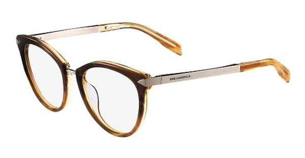 Karl Lagerfeld   KL915 033 SHINY STRIPED BROWN HONEY