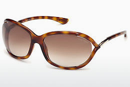 太阳镜 Tom Ford Jennifer (FT0008 52F) - 棕色, Dark, Havana