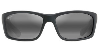 Maui Jim Kanaio Coast 766-02MD Neutral GreyMatte Soft Black with White and Blue